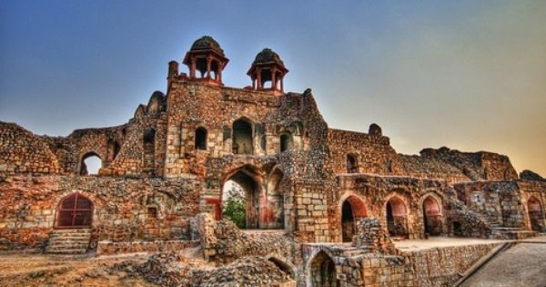 Old Fort Ruins Of The Lost City Of Indraprastha Seat Of The