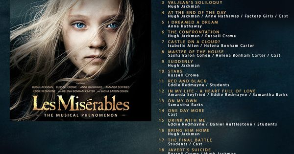 The Les Misérables official soundtrack is available for pre-order from Amazon now!