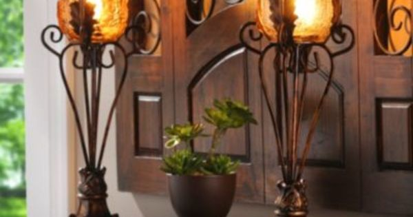 Peabody Uplight Set Of 2 Tuscan Style Living Rooms And