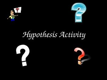 Hypothesis Activity Practice Creating Hypotheses Writing