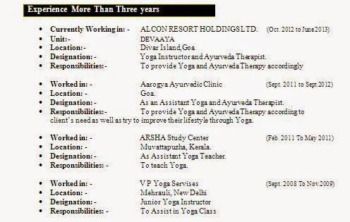 executive resume examples Sample Template Example - yoga resume