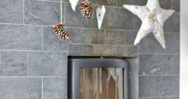 diy deko zapfen h ngen kamin dekorieren rustikale dekoideen diy pinterest z pfchen diy. Black Bedroom Furniture Sets. Home Design Ideas