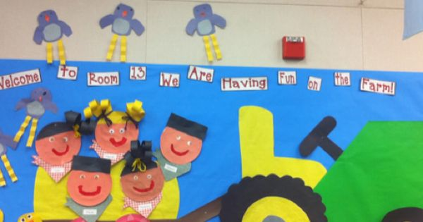 Farm bulletin board in my classroom that I put up for Open