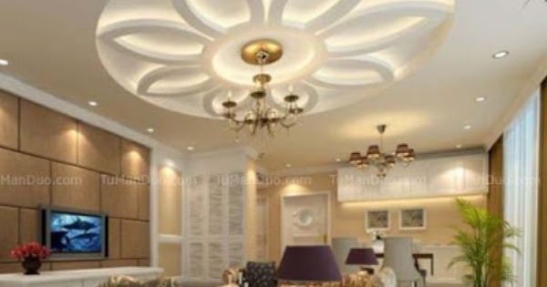 10 unique false ceiling modern designs interior living - False wall designs in living room ...