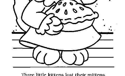 Three Little Kitten Templates Coloring Pages