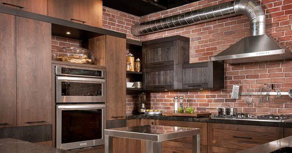 Pour une cuisine dans un d cor moderne rustique optez for Armoire de cuisine rustique