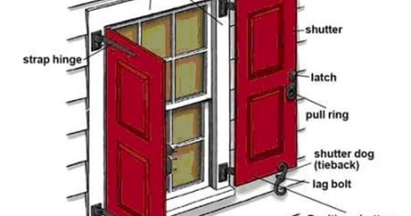 How To Hang Exterior Shutters Wood Shutters Exterior Shutters Exterior House Shutters