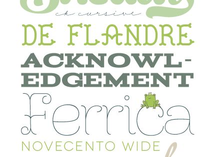 pretty free fonts via frog prince paperie