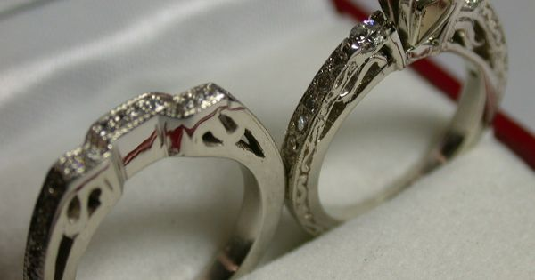 One Of A King Engagement And Wedding Rings Created From Hand