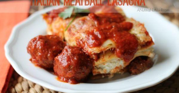 Italian meatballs, Lasagna and Lasagna recipes on Pinterest