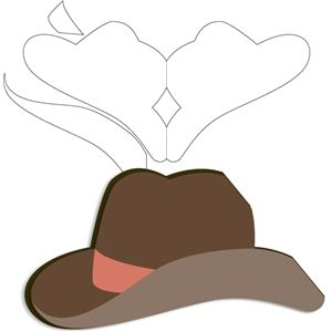 Silhouette Design Store Cowboy Hat Card Shaped Cards Cards Handmade Cards