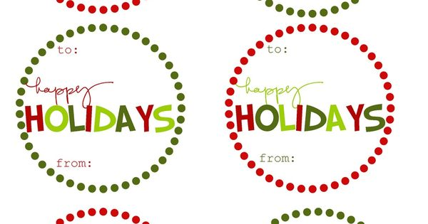 FREE Printable Christmas Holiday Gift Tags