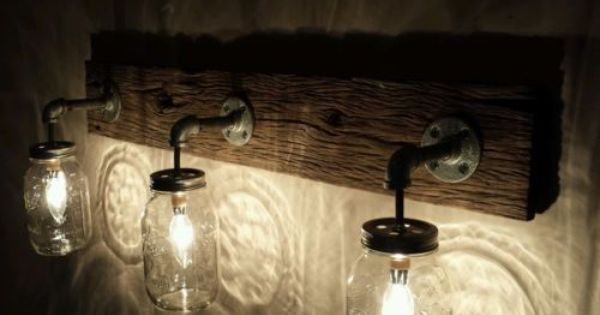 shabby chic bathroom light fixtures shabby chic rustic barn wood jar hanging light 24095