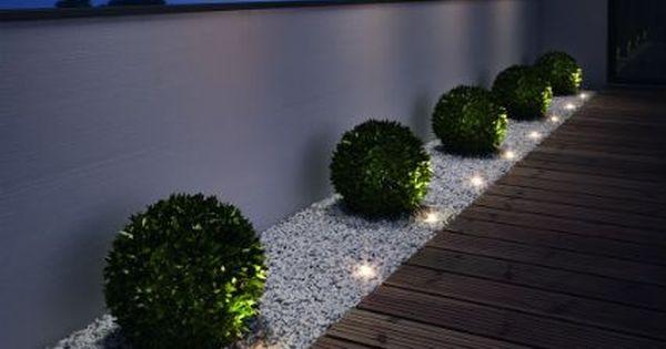 Peque as luces de jardin nuestro hogar pinterest m s for Jardines exteriores de casas pequenas