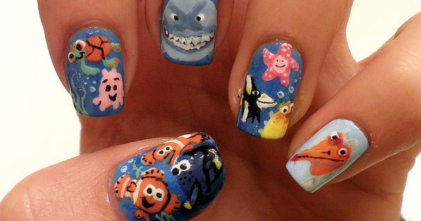 nails nail art nail polish nail design manicure finding nemo dory disney