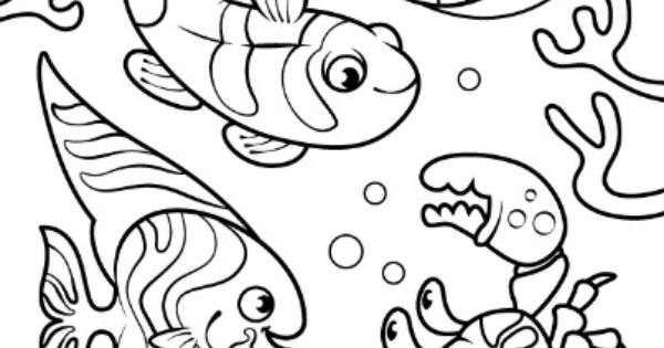 preschool underwater coloring pages - photo#31