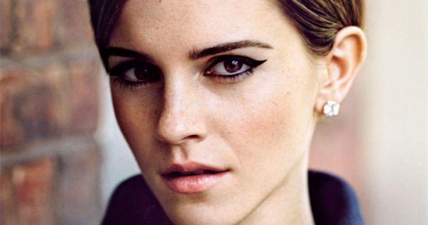 Emma Watson - cat eye. makeup