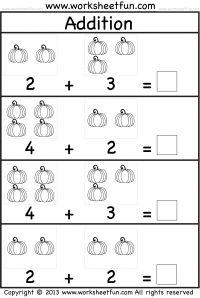 Pumpkin Picture Addition Worksheet Kindergarten Addition