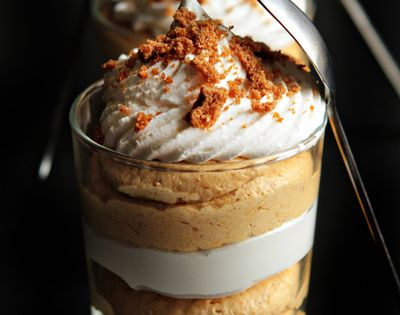 Simple Pumpkin Cheesecake Trifles - doubled the recipe and put in regular-sized