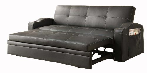 Strange Homelegance 4803Blk Convertible Adjustable Sofa Bed Black Dailytribune Chair Design For Home Dailytribuneorg