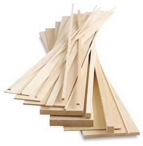 Midwest Products Genuine Basswood Strips Blick Art Materials Basswood Cool Things To Buy Miniature Projects
