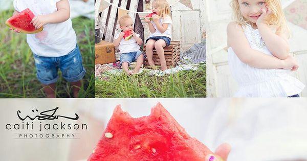 Watermelon Family Photography Portraits Photo