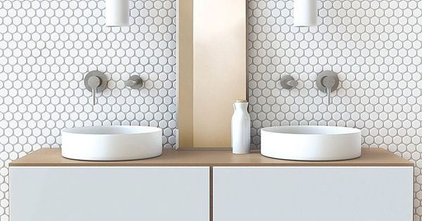 Minimal Brass White Pattern Hexagonal Mosaic