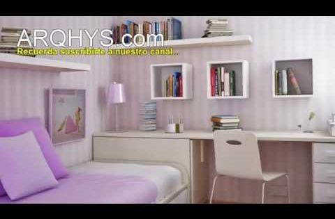 Como organizar una habitacion peque a ideas y consejos - Literas para habitacion pequena ...