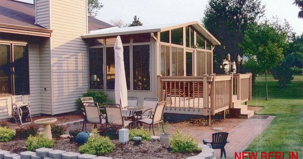 Another Deck Off A Peaked Sunroom We 39 Re Thinking Of Doing