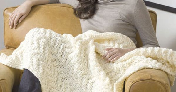 Quick Knit Blanket Knitting Pattern | Red Heart