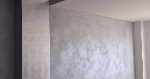 Pared efecto seda y pilar de pan de plata pinturas - Pinturas decorativas paredes ...