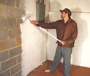 Waterproof Basement Walls Lying A Masonry Waterproofing