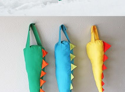 Dinosaur tails... Because every child needs to run around in the snow