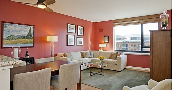 Dark Salmon Living Room Walls This Accent Color Love Home Decor