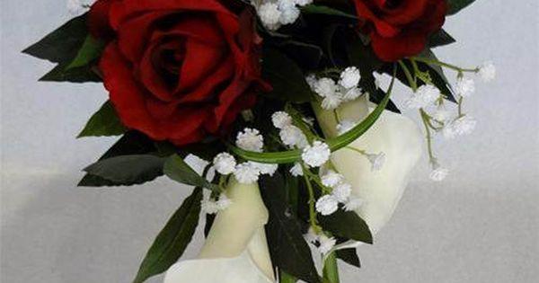 Bouquet de mari e avec roses rouges et gypsophile vente de fleurs artificie - Vente a terme avec bouquet ...