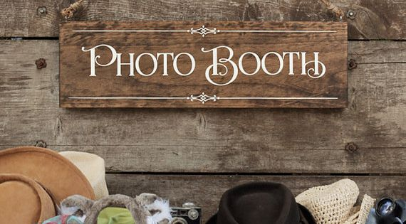 """Rustic Chic Wedding """"Photo Booth"""" Wood Photo Prop Sign for ..."""