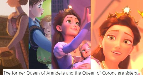 """The former Queen of Arendelle and the Queen of Corona are sisters,"