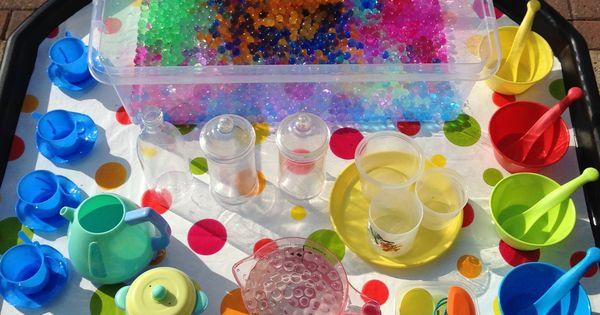 Water Bead Fun Tuff Tray Sensory Activities Pinterest