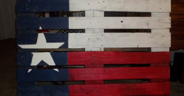 Proud Texan flag by SensibleSisters on Etsy, $30.00