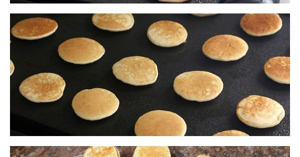 Mini Pancake Kabobs! Eeek! Substitute with organic Hazelnut spread and gluten-free banana pancakes!