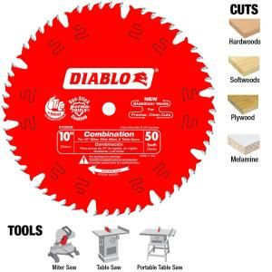 Diablo 10 In X 50 Teeth Combination Saw Blade D1050x Circular Saw Blades Saw Blade Circular Saw