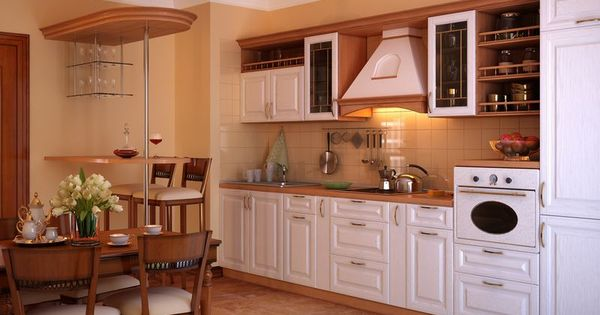 Traditional two tone kitchen cabinets 199 kitchen design for Cute kitchen ideas for apartments