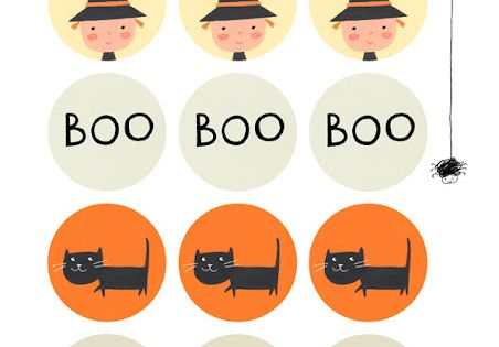Ekaterina Trukhan's Blog: Free Halloween Cupcake Toppers to download