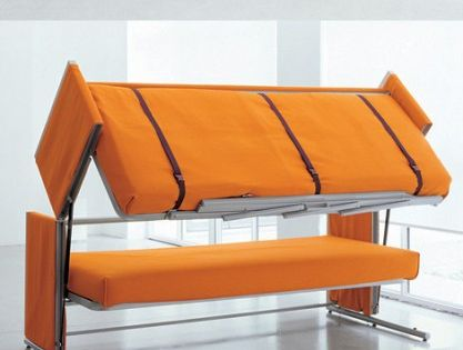 Sofa Bunk Bed -- cool idea for the guest room but, only