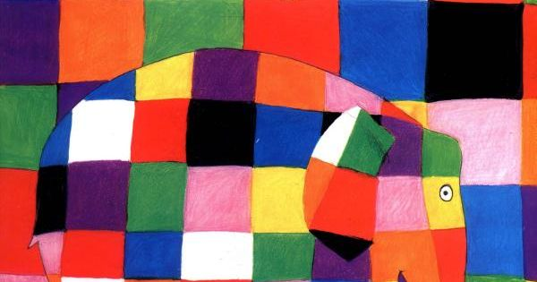 David McKee's vivid and eye-catching patchwork elephant Elmer is a big favourite