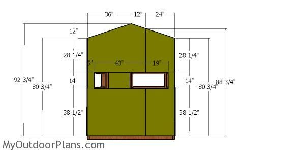 5x6 Deer Blind Roof Plans Myoutdoorplans Free Woodworking Plans And Projects Diy Shed Wooden Playhouse Pergola Bb Roof Plan Deer Blind Wooden Playhouse