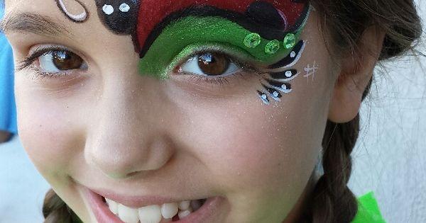 lady bug eye halloween ideas pinterest kinderschminken. Black Bedroom Furniture Sets. Home Design Ideas