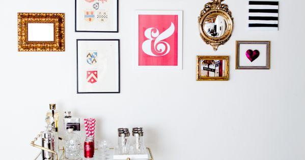 Bar cart + gallery modern house design interior design home designs modern