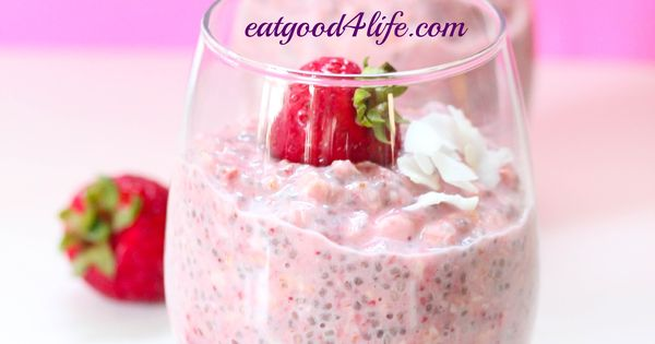 sstrawberry coconut overnight oats. You can use any milk of choice. This