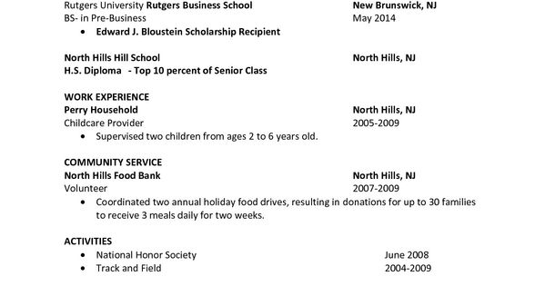 Sample Resume, Job Resume And Job Cover